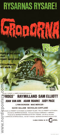 Frogs 1972 poster Ray Milland