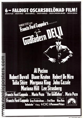 The Godfather: Part 2 1975 poster Al Pacino Francis Ford Coppola