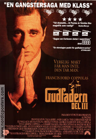 The Godfather: Part 3 1991 poster Al Pacino Francis Ford Coppola