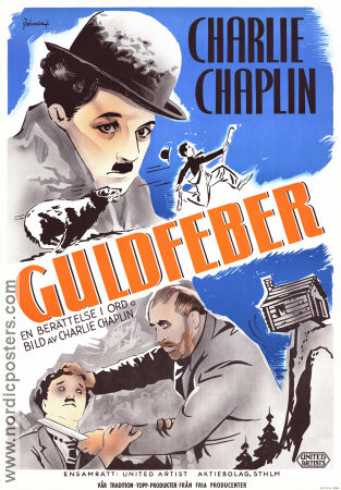 The Gold Rush 1925 poster Mack Swain Charlie Chaplin