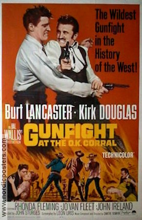 Gunfight at the O.K. Corral 1957 Movie poster Burt Lancaster