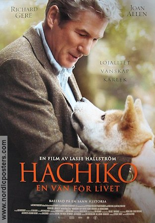 Hachiko A Dog's Story 2009 Movie poster Richard Gere Lasse Hallstr�m