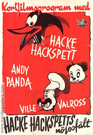 Hacke Hackspetts n�jesf�lt 1947 Movie poster Woody Woodpecker