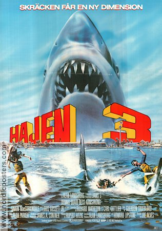 Jaws 3 1982 poster Dennis Quaid Joe Alves