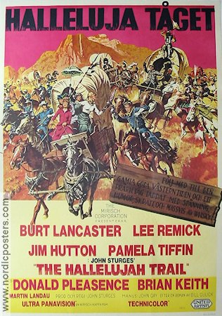 The Hallelujah Trail 1966 Movie poster Burt Lancaster