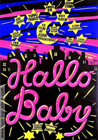 Hallo Baby 1975 Movie poster Marie-Louise deGeer Johan Bergenstr�hle
