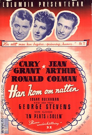 The Talk of the Town 1945 poster Cary Grant George Stevens