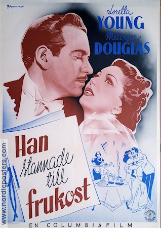 He Stayed for Breakfast 1940 poster Loretta Young