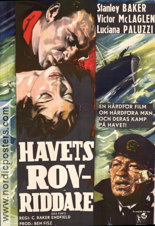 Havets rovriddare 1959 poster Rod Cameron