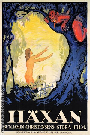 Heksen 1922 Movie poster Benjamin Christensen