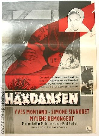 Hexenjagd 1959 poster Yves Montand