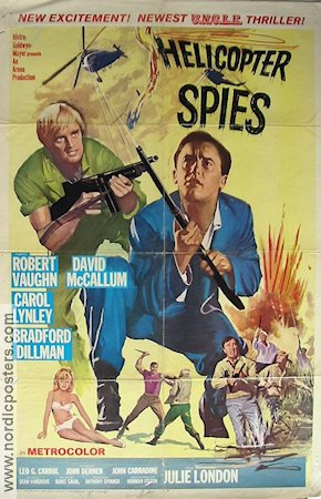 The Helicopter Spies 1969 poster Robert Vaughn