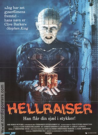 Hellraiser 1987 Movie poster Andrew Robinson