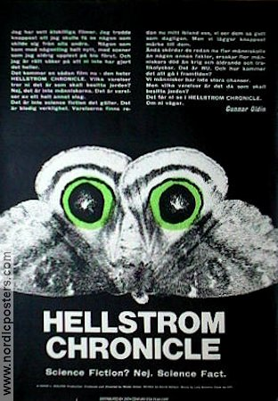 Hellstrom Chronicle 1971 poster Walon Green