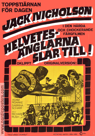 Hell's Angels on Wheels 1968 poster Jack Nicholson