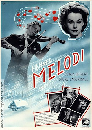 Hennes melodi 1940 poster Sonja Wigert