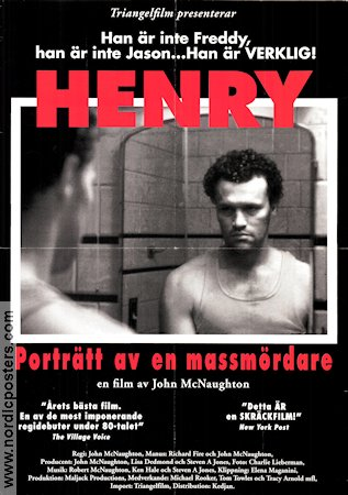 Henry Portrait of a Serial Killer 1986 poster John McNaughton