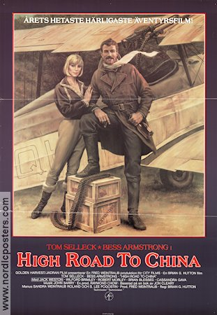 High Road To China Movie Poster 1983 Original Nordicposters