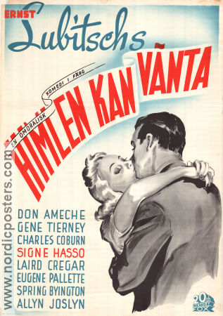 Heaven Can Wait 1943 poster Don Ameche Ernst Lubitsch