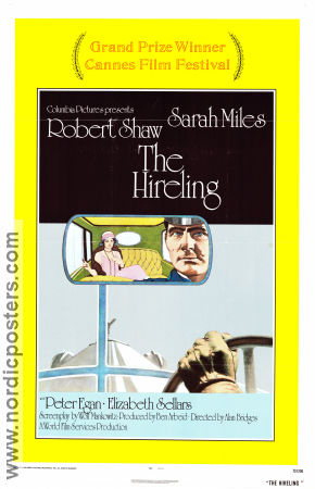 The Hireling 1973 poster Robert Shaw