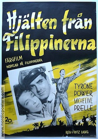American Guerilla in the Philippines 1951 poster Tyrone Power Fritz Lang