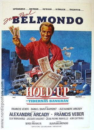 Hold-up 1985 Movie poster Jean-Paul Belmondo