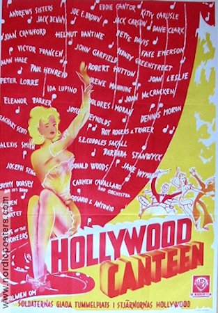 Hollywood Canteen 1945 poster