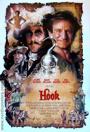 Hook 1991 Movie poster Dustin Hoffman Steven Spielberg