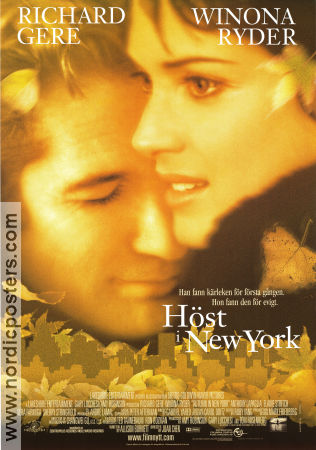 Autumn in New York 2000 poster Richard Gere