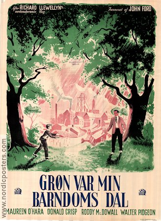 How Green was my Valley 1942 poster Walter Pidgeon John Ford