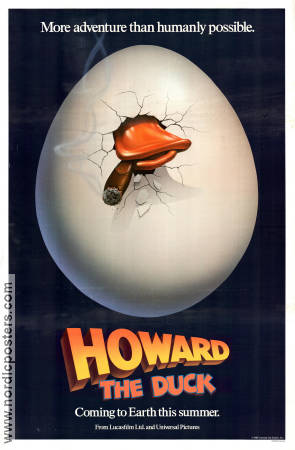 Howard the Duck 1985 Movie poster Lea Thompson Willard Huyck