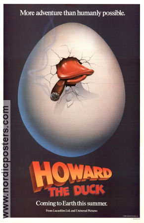 Howard the Duck 1985 poster Lea Thompson Willard Huyck