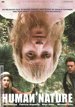 Human Nature 2001 poster Rhys Ifans Michel Gondry
