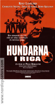 The Hounds of Riga 1995 poster Rolf Lassgård Pelle Berglund
