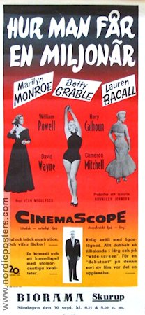 How to Marry a Millionaire 1954 poster Marilyn Monroe