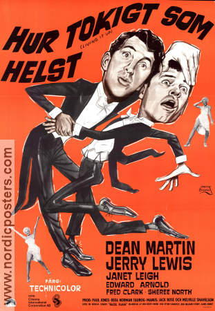 Living it Up 1955 poster Jerry Lewis Norman Taurog