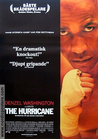 The Hurricane 1999 poster Denzel Washington