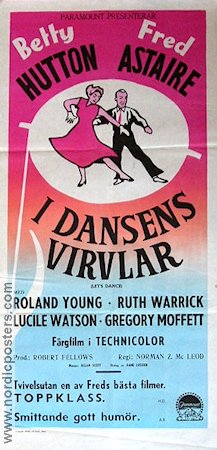 Let´s Dance 1951 poster Fred Astaire