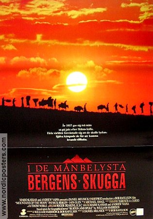 movie posters i de m nbelysta bergens skugga mountains of the moon 1989 original. Black Bedroom Furniture Sets. Home Design Ideas
