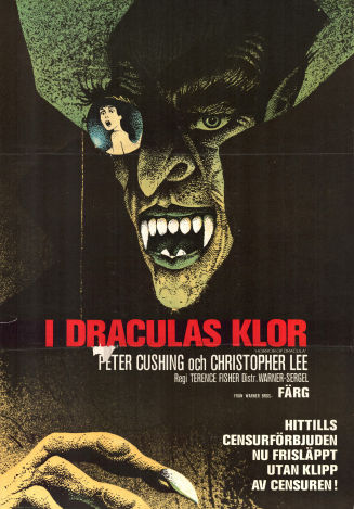 Horror of Dracula 1958 poster Peter Cushing Terence Fischer
