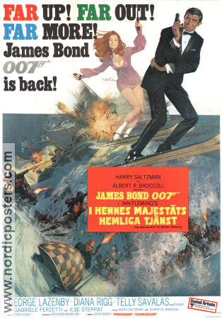 On Her Majesty´s Secret Service 1969 poster George Lazenby Peter Hunt