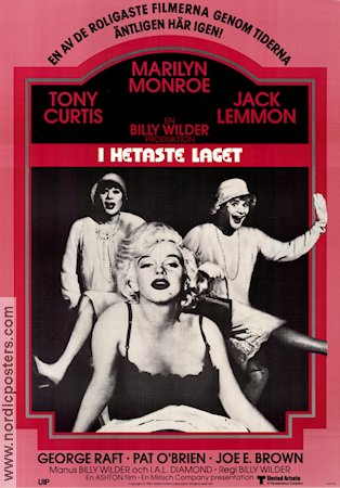 Some Like it Hot 1959 Movie poster Marilyn Monroe Billy Wilder