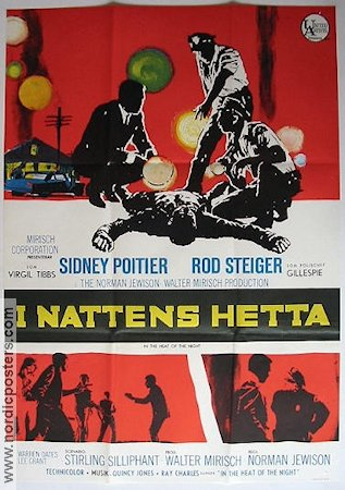 In the Heat of the Night 1967 poster Sidney Poitier Norman Jewison