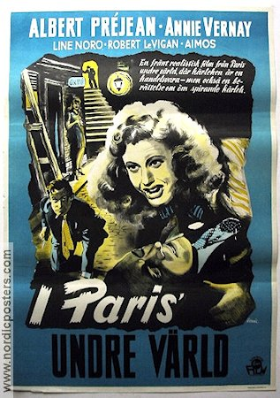 I Paris undre värld 1946 Movie poster Albert Préjean