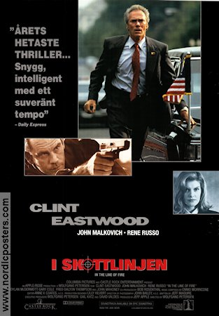 In the Line of Fire 1993 Movie poster Clint Eastwood