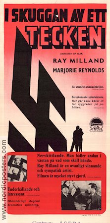 Ministry of Fear 1944 poster Ray Milland