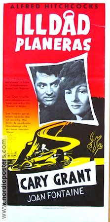 Suspicion 1941 Movie poster Cary Grant Alfred Hitchcock