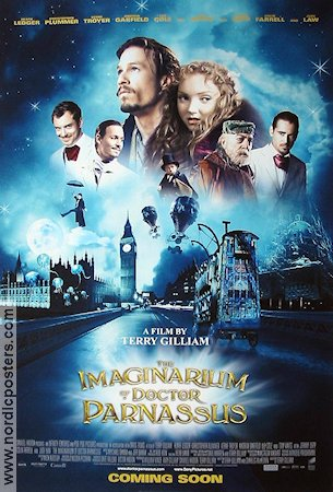 The Imaginarium of Doctor Parnassus 2009 Movie poster Heath Ledger Terry Gilliam