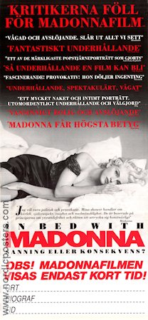 In Bed with Madonna 1991 poster Madonna