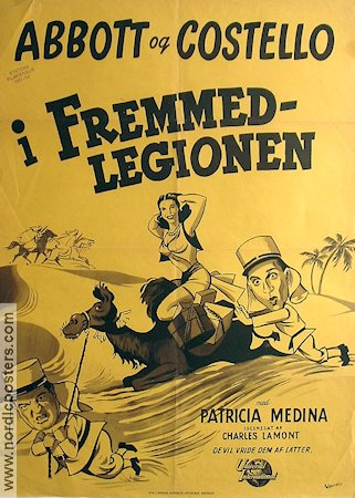 In the Foreign Legion 1951 poster Abbott and Costello